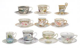 (10) Assorted Cups And Saucers Including