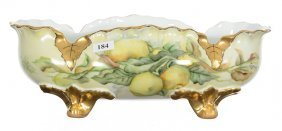 """4 1/4"""" X 13"""" Marked Bavaria Footed Oval Bowl"""