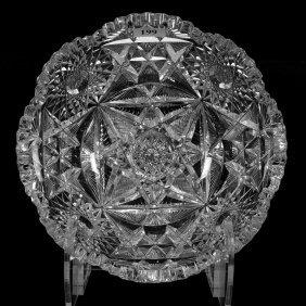 "3 1/4"" X 8 1/4"" American Brilliant Cut Glass Bowl"