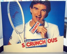 Jimmy Connors Nestle Crunch Poster, 1988