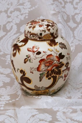 Large Mason Ginger Jar With Lid