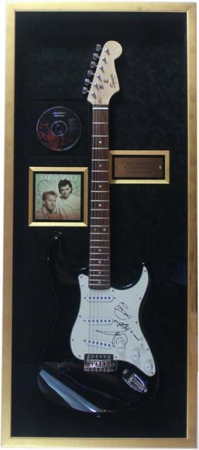 Electric Guitar Autographed By Members Of Air Supply