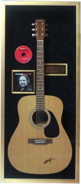 Willie Nelson Autographed Acoustic Guitar