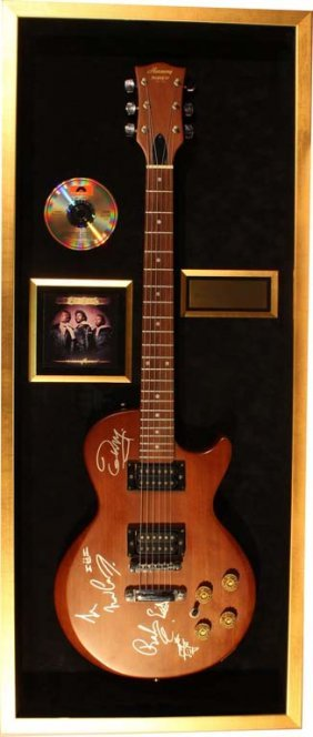 The Bee Gees Autographed Electric Guitar