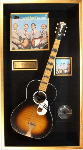 Buddy Holly: Acoustic Guitar And Album (chirping