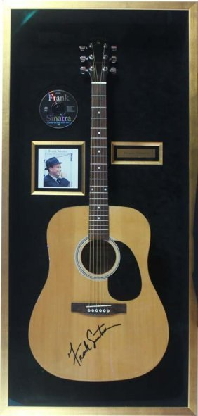 Frank Sinatra Signed Acoustic Guitar