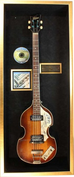 Hofner Bass Guitar Signed By The Beatles