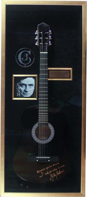 Electric Guitar Autographed By Johnny Cash
