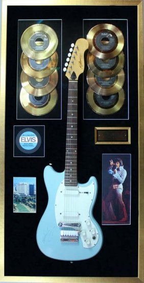 Elvis Presley: Signed Guitar And Records