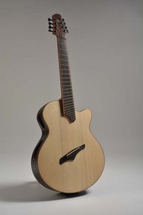 """Lukas Brunner 8-string Guitar, """"the Air Conditioner"""""""