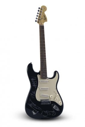 Fender Squier Stratocaster Signed By The Rolling Stones