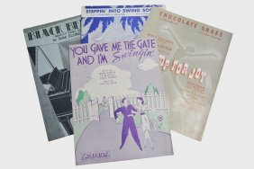 Lot Of 4 Written And Owned Sheet Music By Duke