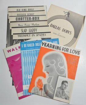 Lot Of 10 Written And Owned Sheet Music By Duke