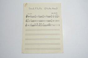 """""""soul Flute (flute Ame),"""" Handwritten Composition"""