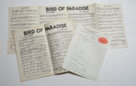 """bird Of Paradise,"" Assorted Documents"