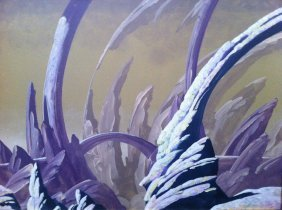 Roger Dean/Yes Aftermath Acrylic On Board
