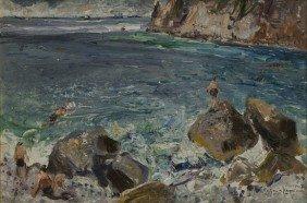 """Guido Casciaro (Napoli 1900 - 1963) """"Capri"""", 1947"""