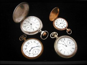 4 Pocket Watches Including, Excelsior