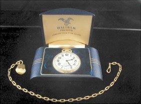 Waltham Premier Pocket Watch In Original Box