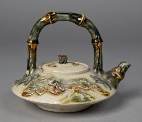 Japanese Porcelain Teapot In Floral Decoration