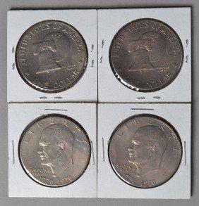 (4) 1976 Silver Dollars
