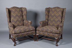 Pr. Of American Queen Anne Armchairs