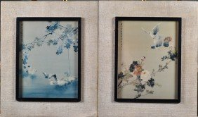 Pr. Of Chinese Framed Prints