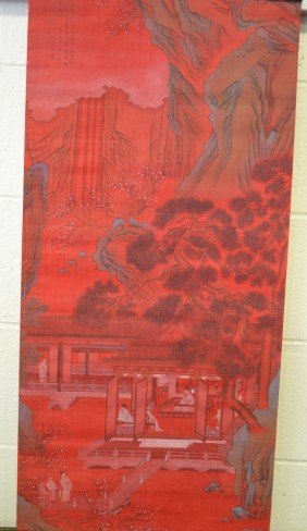 Chinese Scroll Painting Signed Shen Luo
