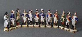 Schumann Dresden Porcelain Napoleonic Soldiers