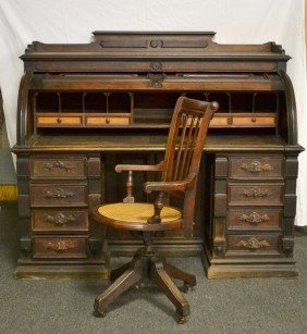 Eastlake Cylinder Desk From The Henry Ford Estate