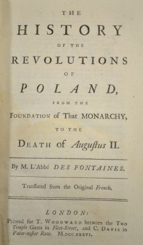 The History Of The Revolutions Of Poland, 1736