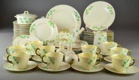 (58) Pcs. Beleek Shamrock/Basket Dinnerware