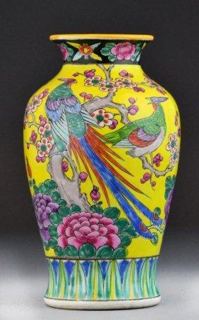 Japanese Famille Rose Porcelain Vase