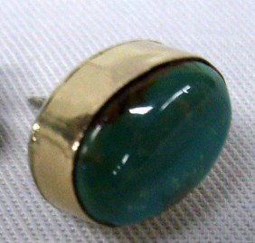 Navajo Sterling Turquoise Tie Tack