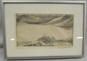 1978 Signed Framed Wood Block Print - Lindquist