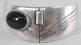 Mexican Sterling Silver Onyx Bracelet