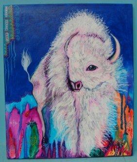 Original Acrylic Painting On Canvas-Kills Thunder