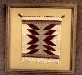 Framed Navajo Sampler Weaving