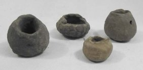 4 Prehistoric Mimbres Child's Pottery