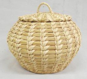 Tohono O'Odham Lidded Basket