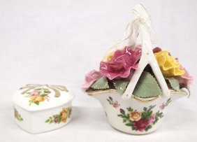 Royal Albert Fine Porcelain Music + Trinket Boxes