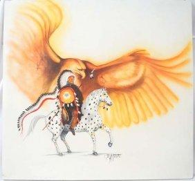 Original Navajo 2006 Acrylic Painting By R. Pino
