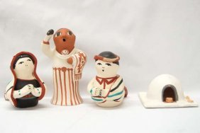 Native American Isleta Pottery Collectibles