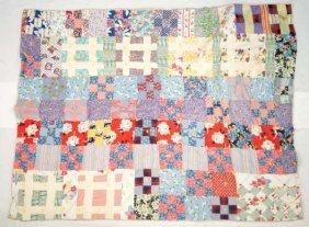 Antique Hand Tied Patchwork Quilt