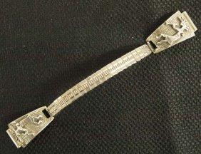 Navajo Sterling Silver Kokopelli Watch Band