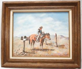 Original Painting On Canvas By D. J. Whipple
