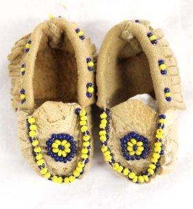 Native American Navajo Beaded Miniature Moccasins