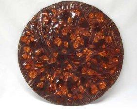 Estate Enamelware On Copper Plate By Jim Proctor