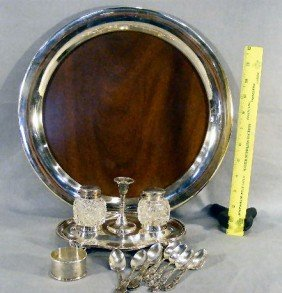 Lot Of Misc. Silver Plate Including Standish With T