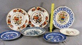 Lot Of Plates Including Mason's Canada, Doulton Nu
